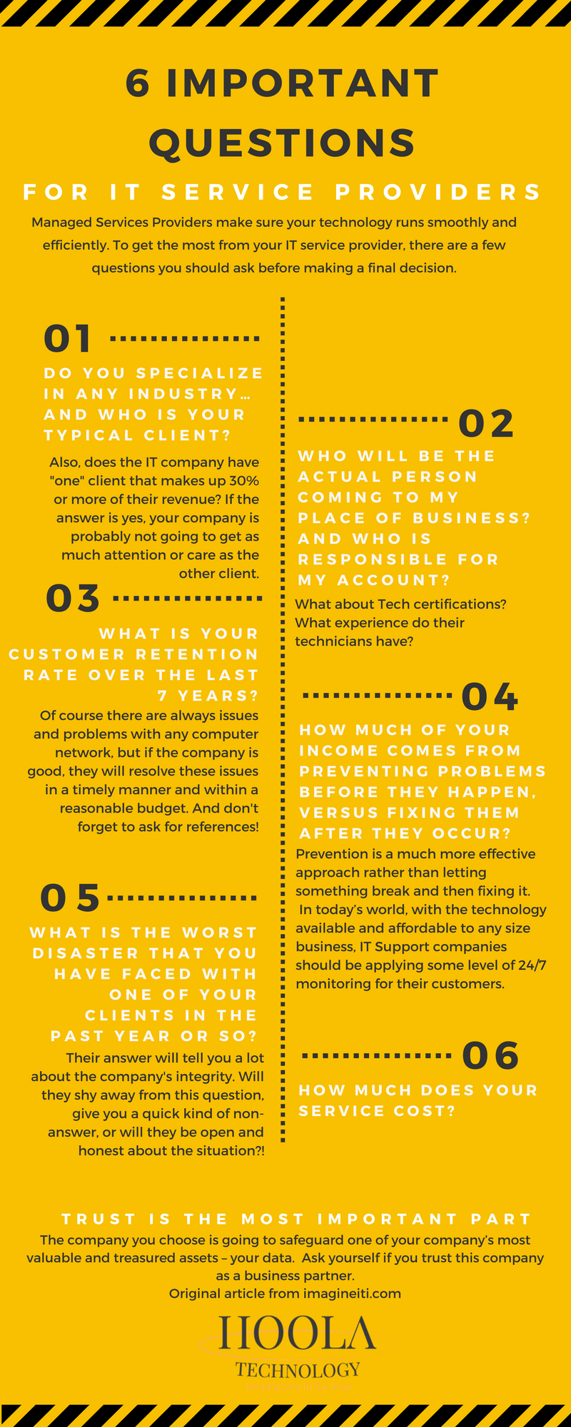 6 questions for IT infographic